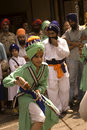 Sikh fighter, Amritsar, Punjab, India Royalty Free Stock Photo