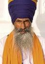 Sikh man in amritsar india portrait of indian turban with bushy beard Stock Photos