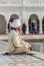 Sikh in a obliteration prayer the lotus position Royalty Free Stock Photos