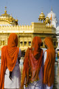 Sikh Women at Golden Temple, India Stock Photo