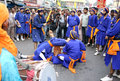 Sikhs in Nagar Keertan celebrations Royalty Free Stock Images