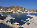 Sikinos island port greece and for fishing and ferry boats Stock Image