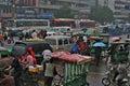 Sikt för trafik för porslintvärgatadriftstopp Royaltyfri Bild
