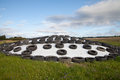 Silage storage in countryside landscape Royalty Free Stock Photo