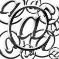 Silbernes E-Mail-Symbol Lizenzfreie Stockfotos