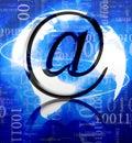 Silbernes E-Mail-Symbol Stockbilder