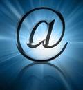 Silbernes E-Mail-Symbol Lizenzfreie Stockbilder