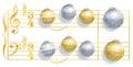 Silent Night Christmas Balls Song Royalty Free Stock Photo