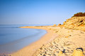 Silent sea quiet golden beach in salento apulia italy Royalty Free Stock Photos