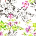 Siles, Pattern, B, Flowers, Too, Leaves, White, Background, Orientation Arrows, Illust