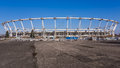 Silesian national stadium under reconstruction taken march works very much delayed due to defects materials discovered mounting up Royalty Free Stock Photos