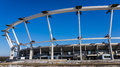 Silesian national stadium under reconstruction taken march works very much delayed due to defects materials discovered mounting up Royalty Free Stock Image