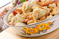 Silesian potato dumplings Royalty Free Stock Photography