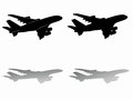 Silhouette of airliner. vector drawing