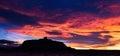 Silhouette of Ait Benhaddou Royalty Free Stock Photo