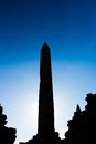 Silhouette of an ancient Egyptian obelisk Royalty Free Stock Photo