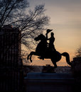 Silhouette of Andrew Jackson Royalty Free Stock Photo