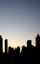 Silhouette of Atlanta Royalty Free Stock Photography