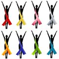 Silhouette Awareness Ribbons 1 Stock Image