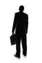 Silhouette back view of business man Royalty Free Stock Photo