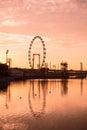 Silhouette Of Big Ferris Wheel...