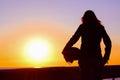 Silueta z na západ slnka