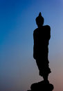Silhouette of buddha statue in thailand Royalty Free Stock Photography