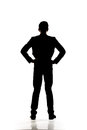 Silhouette of business man Royalty Free Stock Photo