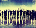 Silhouette business people corporate connection discussion meeti meeting concept Royalty Free Stock Photography