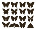 Silhouette Butterflies. Simple...