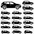 Silhouette cars Royalty Free Stock Photo