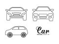 Silhouette cars set. Transportation design. Vector graphic Royalty Free Stock Photo