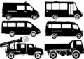 Silhouette cars, vector Stock Image