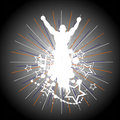 Silhouette of the champion. Royalty Free Stock Photo
