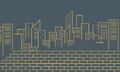 Silhouette of city vector outline