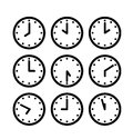 Silhouette clock icon Royalty Free Stock Photo