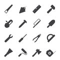 Silhouette Construction and Building Tools icons Royalty Free Stock Photo