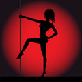 Silhouette de fille de strip tease Photos libres de droits