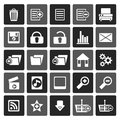 Silhouette 25 Detailed Internet Icons Royalty Free Stock Photo