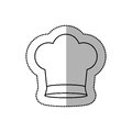 Silhouette dotted sticker of chefs hat with medium shade and small Royalty Free Stock Photo