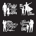 Silhouette Father and child with quotes in , illustration-01