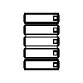 Silhouette file cabinet with five floor Royalty Free Stock Photo
