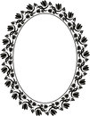 Silhouette floral frame illustration Stock Photos