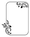 Silhouette frame with hearts Royalty Free Stock Photo