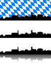 Silhouette of furth im wald bavaria detailed and accurate illustration Royalty Free Stock Images