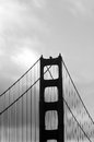 Silhouette of the Golden Gate Bridge in San Fransisco, CA Royalty Free Stock Photo