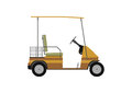 Silhouette of golf cart. Royalty Free Stock Photo