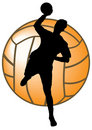 Silhouette of handball Royalty Free Stock Image