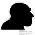 Silhouette of a head Royalty Free Stock Photo