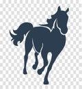 Silhouette Horse Black